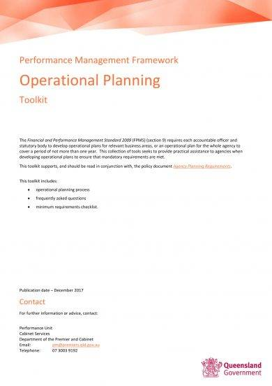 operational planning toolkit example