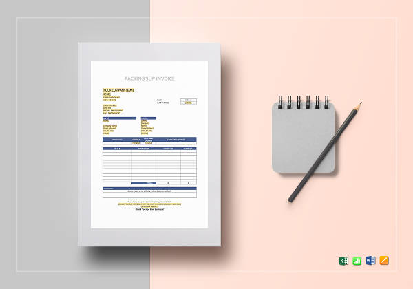 packaging slip invoice example1