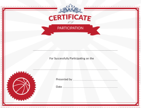 participation award certificate