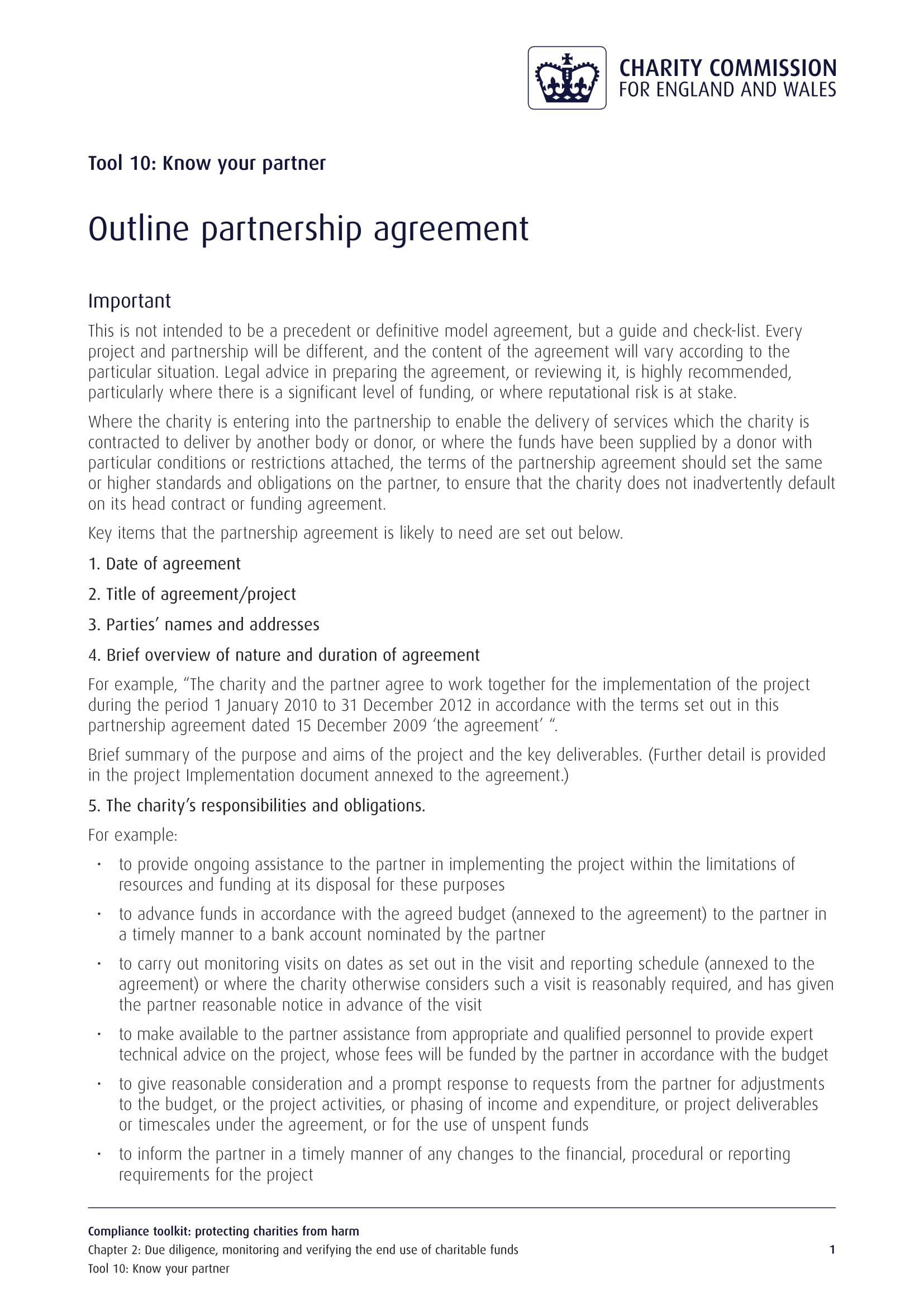 partnership agreement outline example2