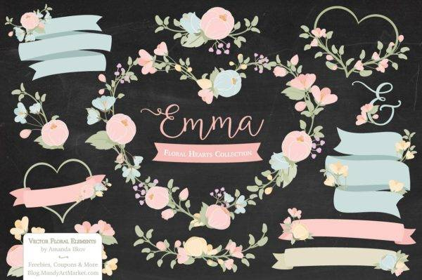pastel floral label example1