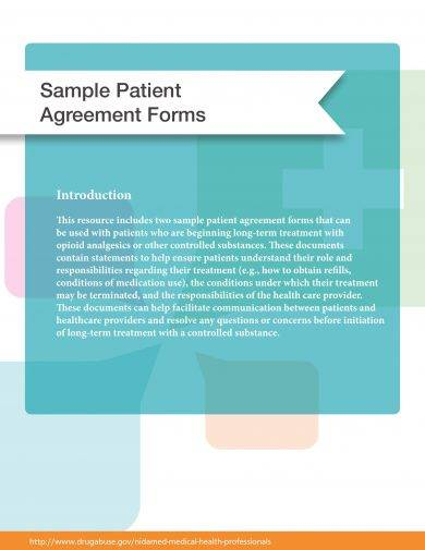 patient agreement form example