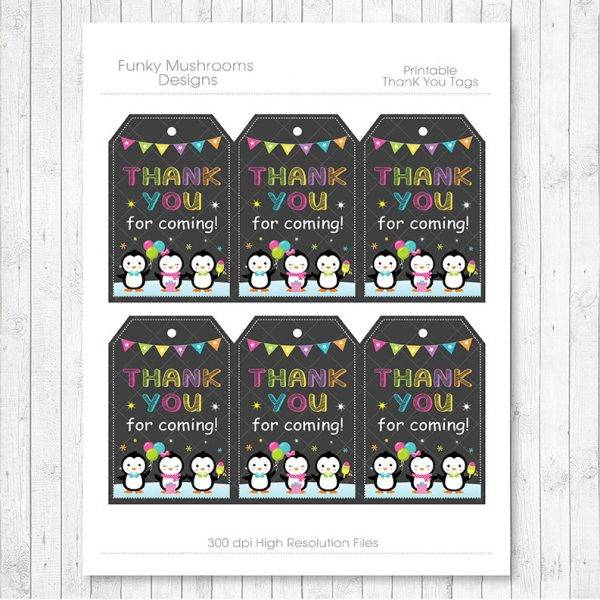 penguins thank you gift card or voucher example