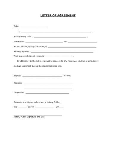permission consent form for traveling minors