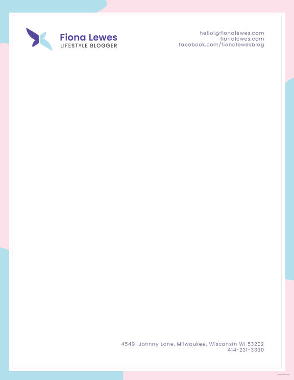personal letterhead example