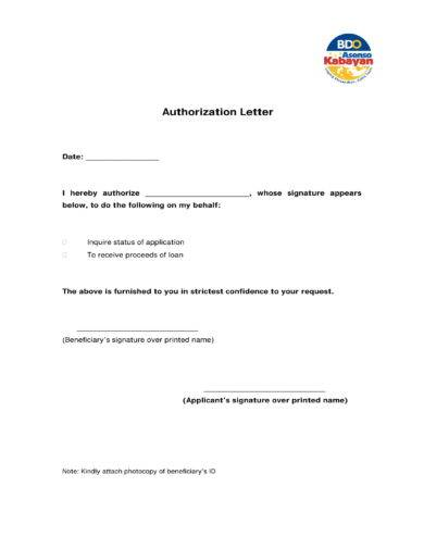 9 Bank Authorization Letter Examples Pdf