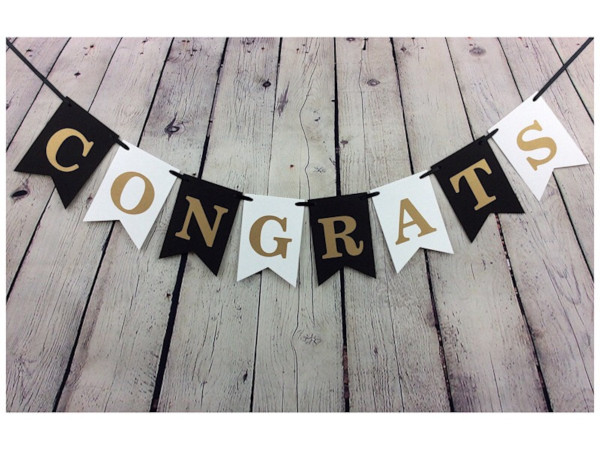 personalized congratulations banner example