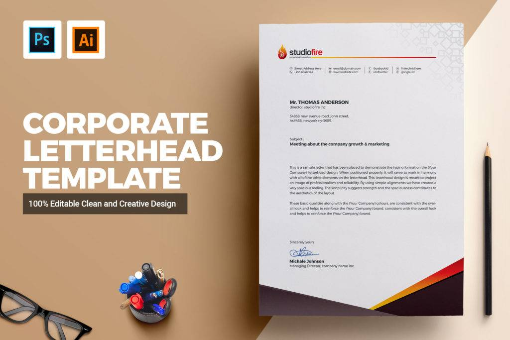 personalized creative letterhead template