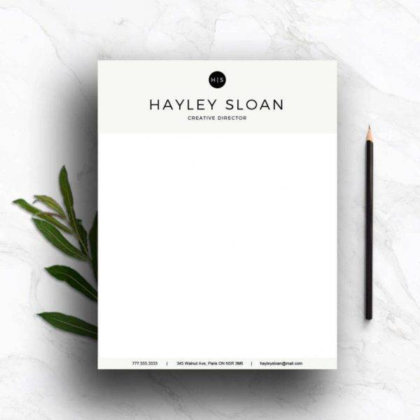 personalized formal letterhead example1