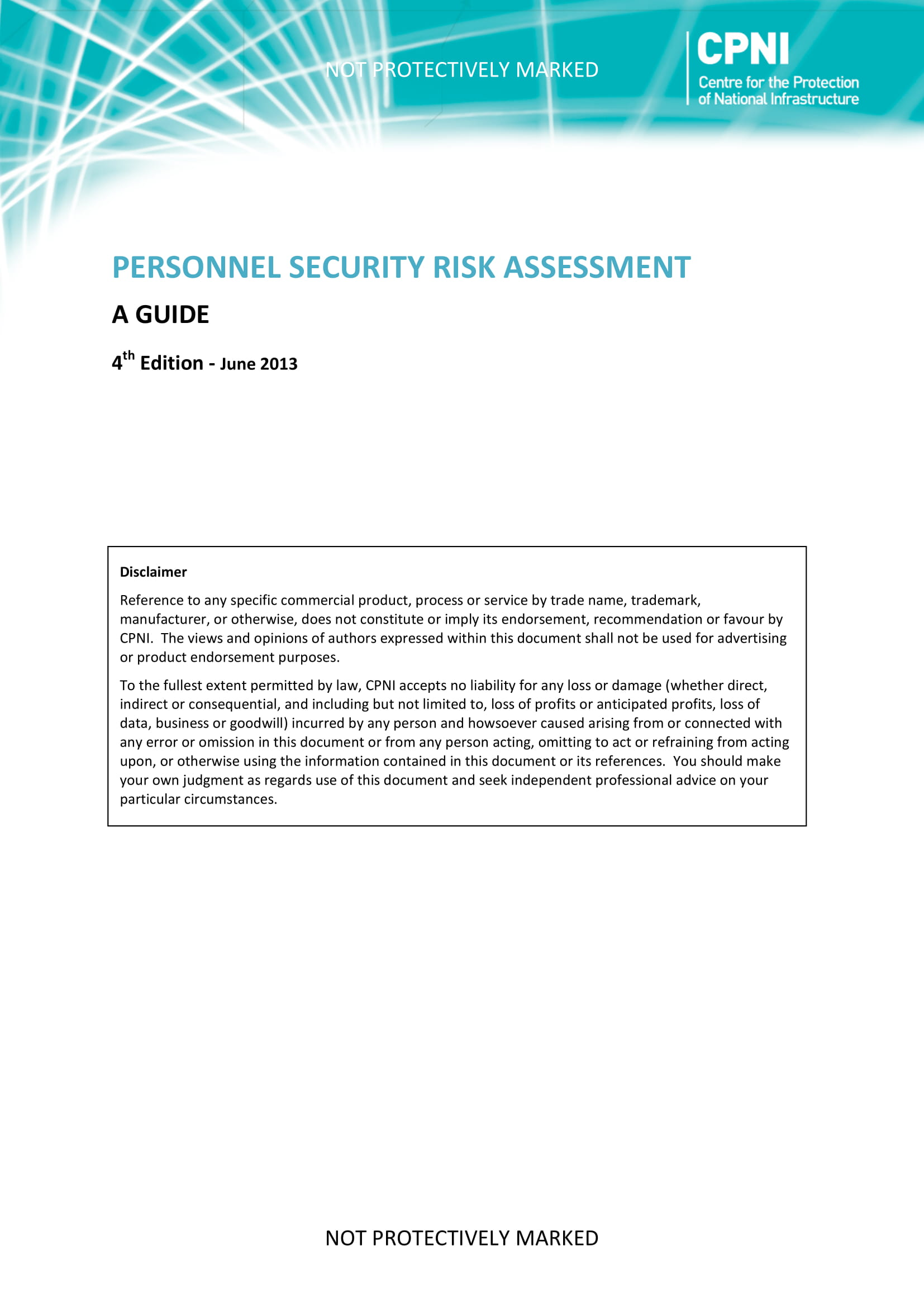 personnel security risk assessment example 01