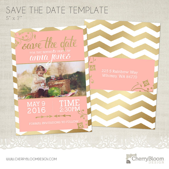 photographer template birthday save the date design example