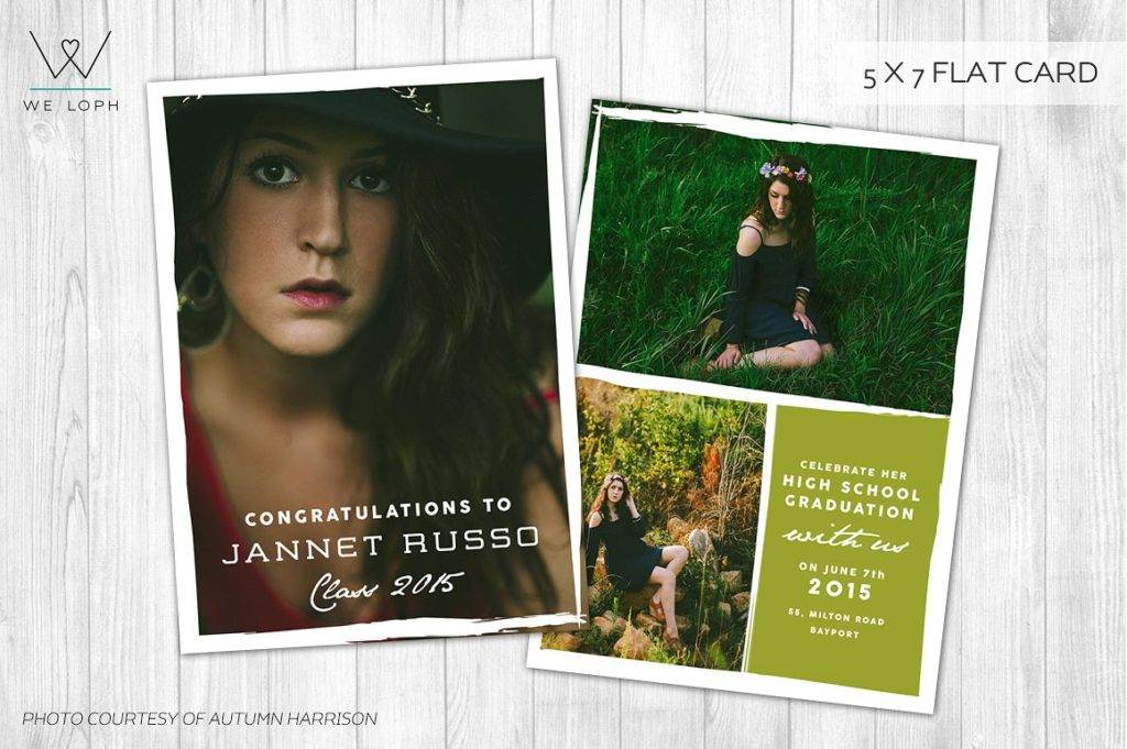 photoshoot graduation card announcement example