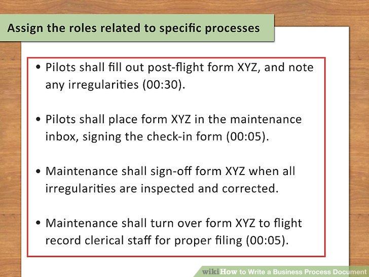 pilot process document