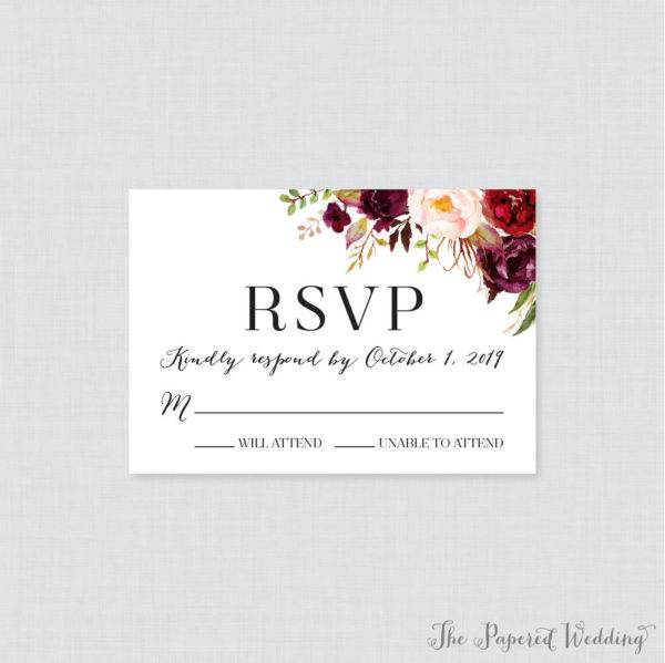 pink marsala rsvp label example1