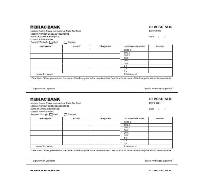 10 Deposit Slip Examples And Templates Pdf Doc Examples