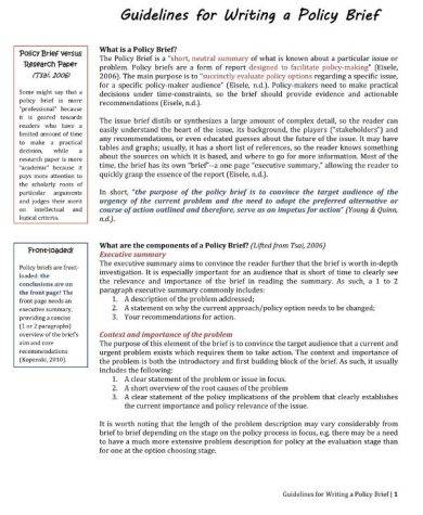 14 policy brief templates and examples pdf doc