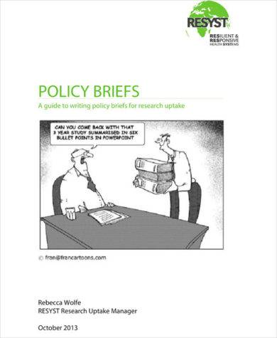 policy brief with writing guidelines example1