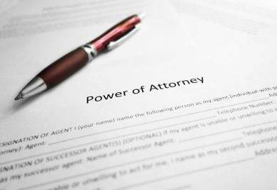 power of attorney document example1