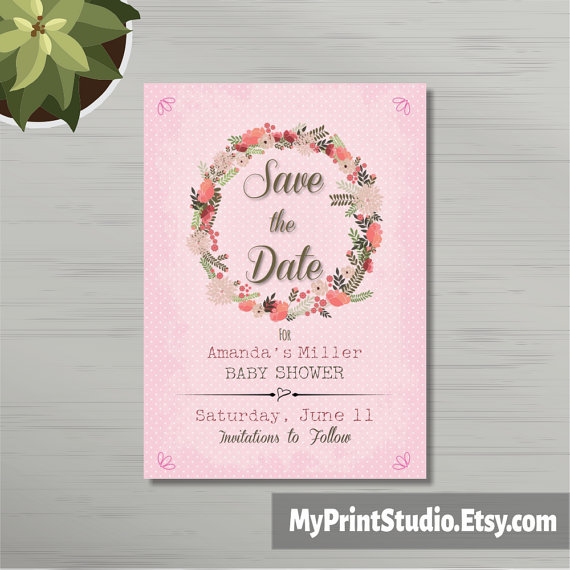 pretty baby girl save the date example