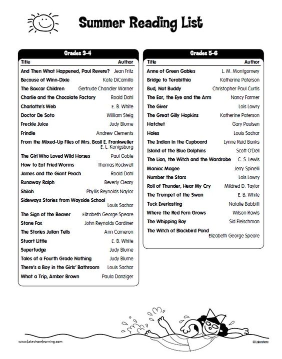 primary school reading list