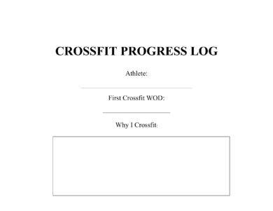 printable crossfit workout progress log example