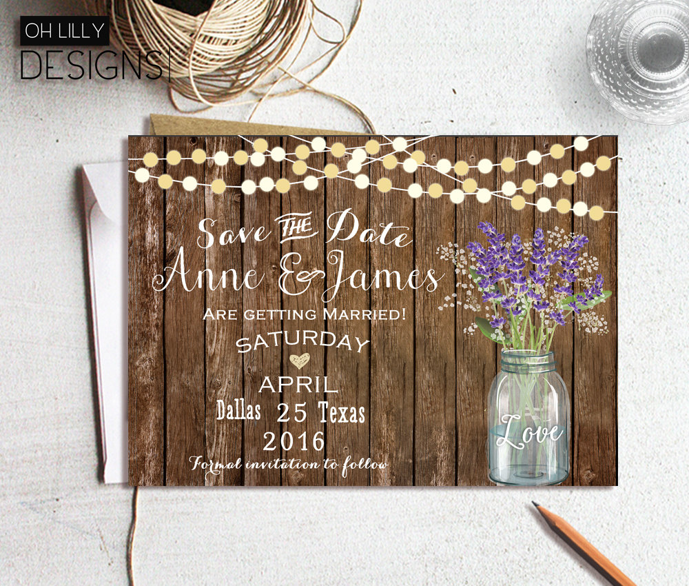 printable rustic save the date example