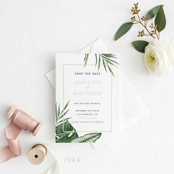 printable tropical save the date example