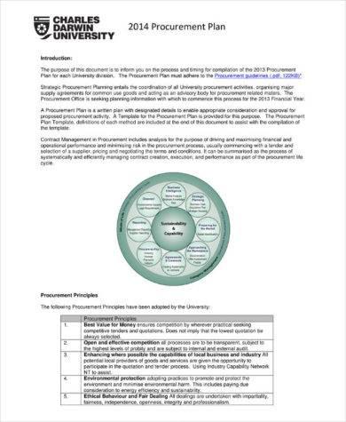 procurement management plan example1