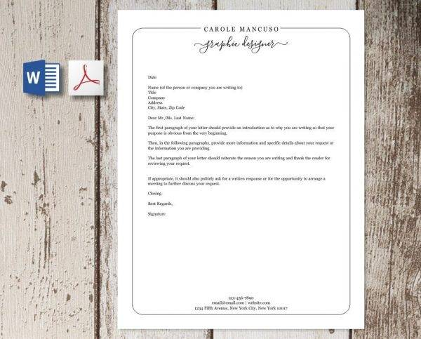 professional business letterhead example1