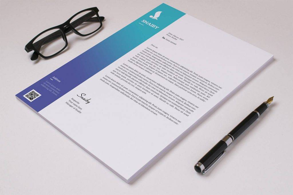 professional corporate letterhead template