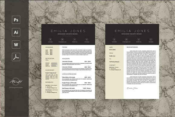 professional personal letterhead example