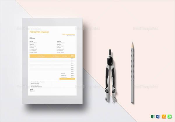 proforma invoice example