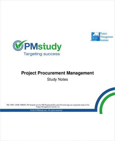 project procurement management plan and study notes example1
