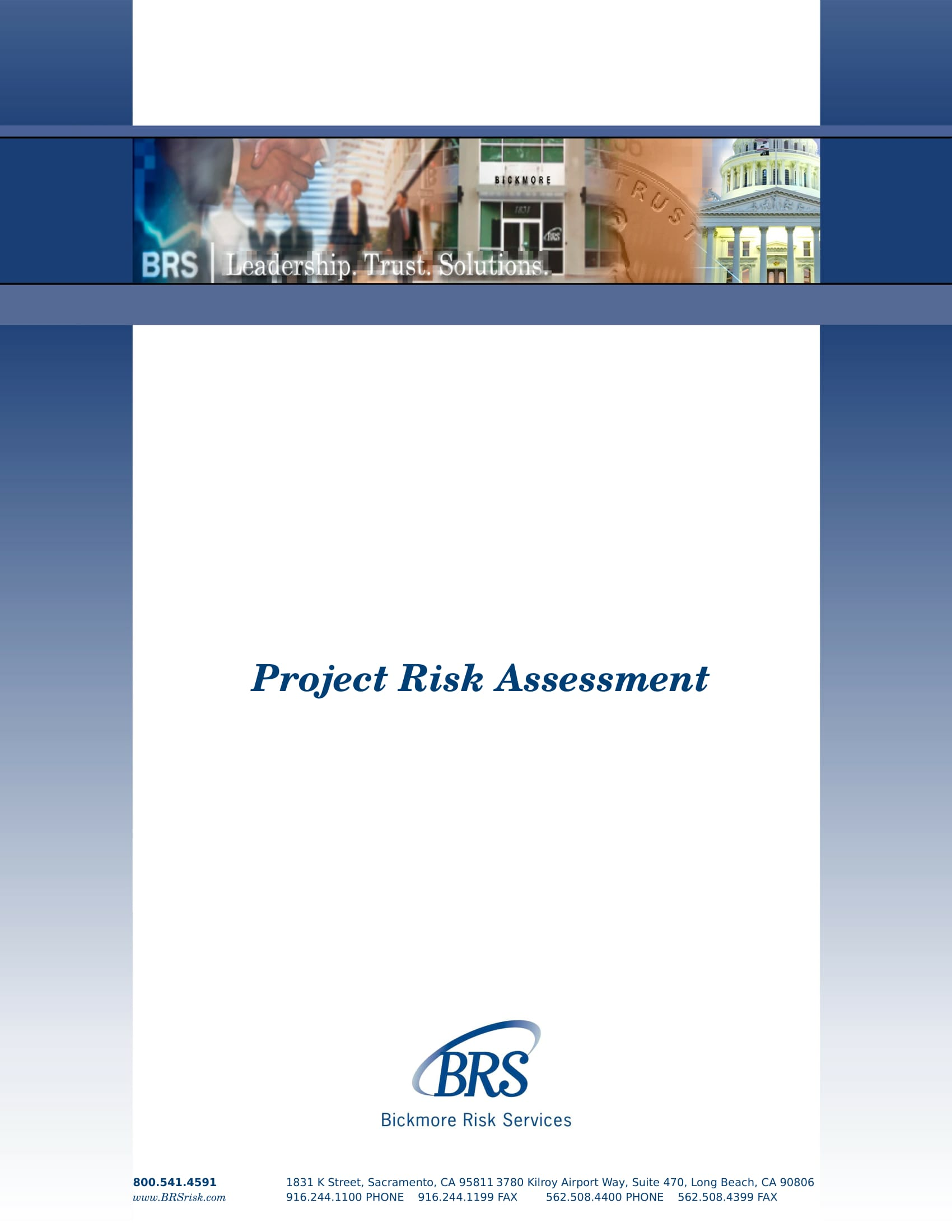 project risk assessment example 1