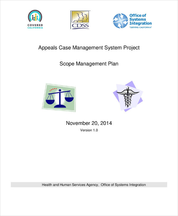 project scope management plan example