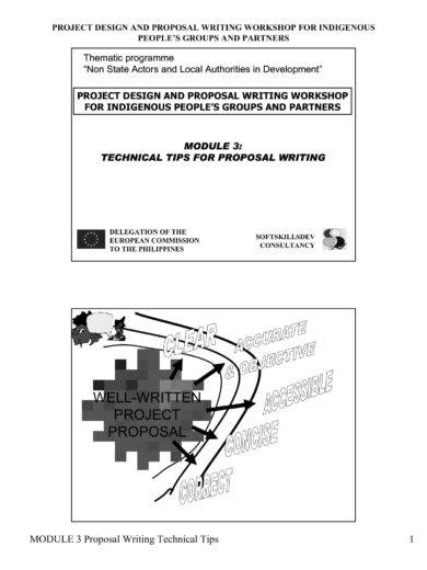 proposal writing technical tips example