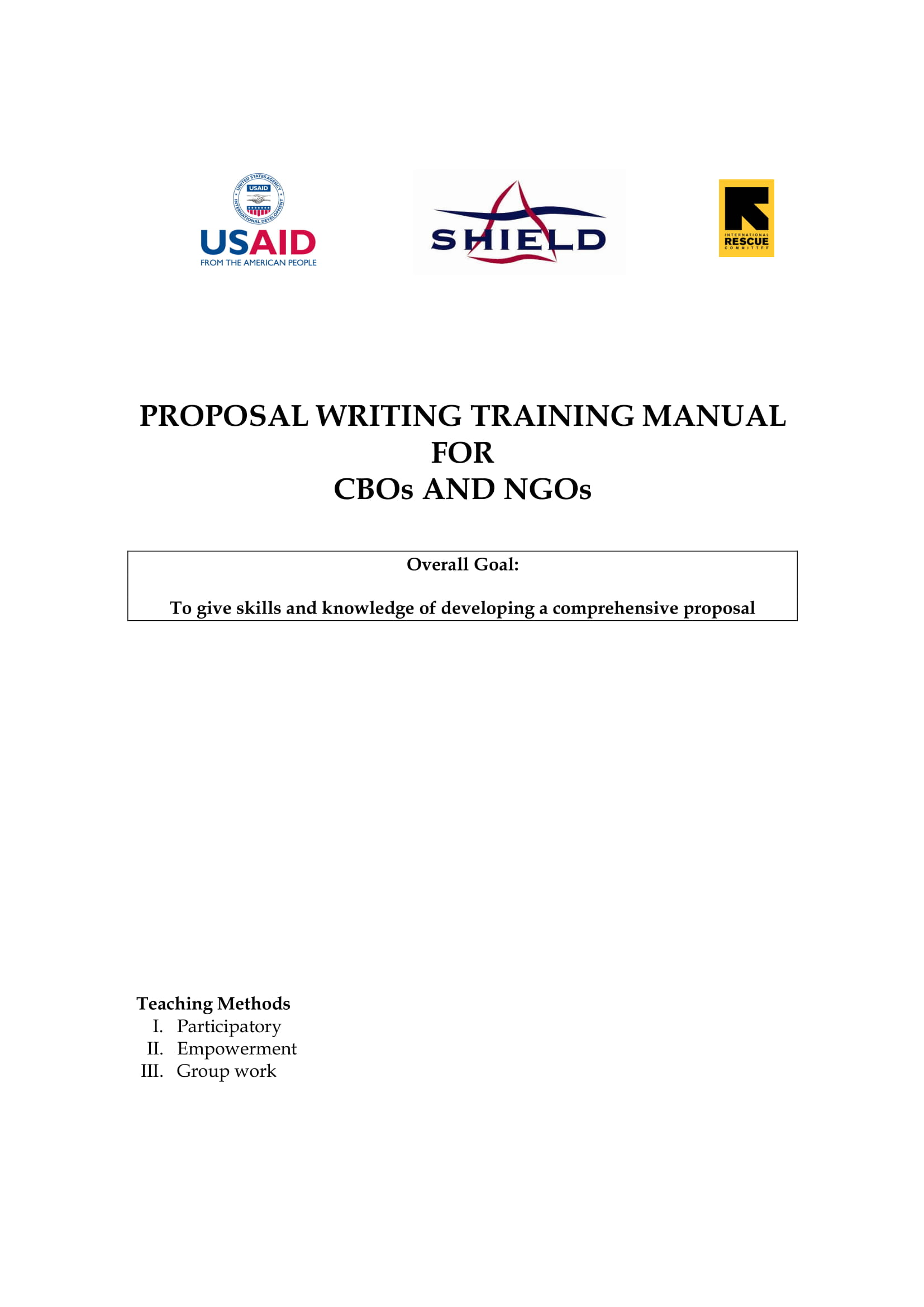 proposal writing training manual example 01