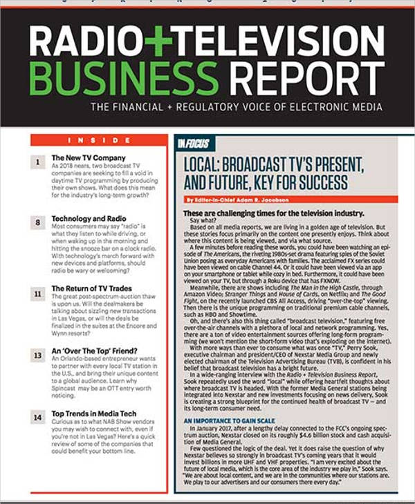 radio and television business report