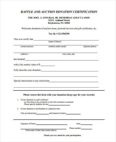 raffle and auction donation certification1
