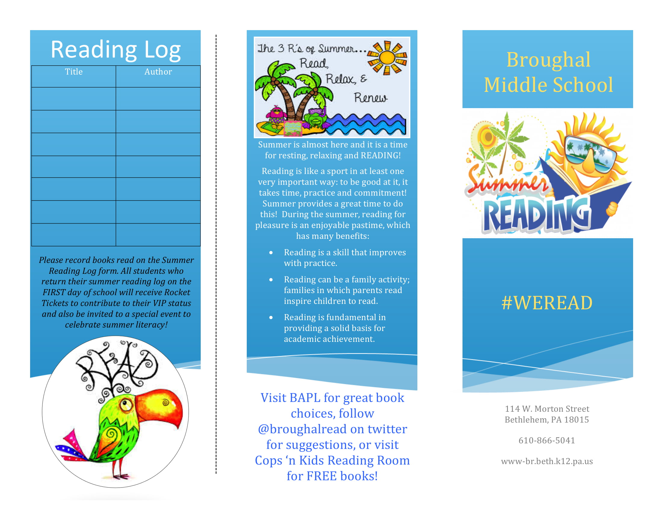 reading log and reading list for kids example2