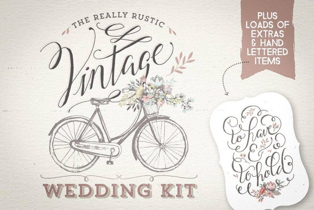 really rustic vintage wedding kit example