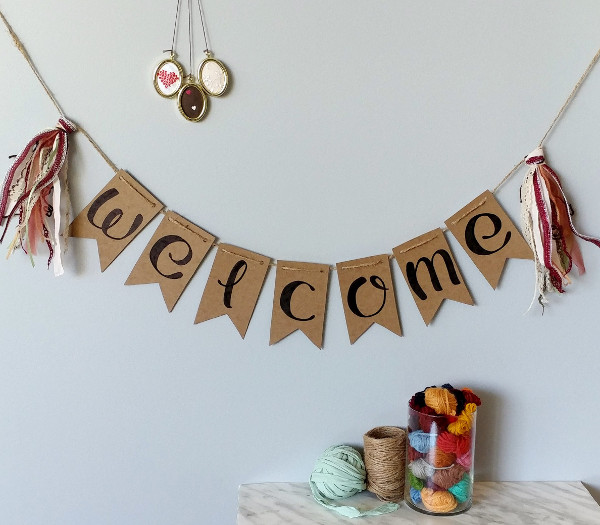 recycled kraft welcome banner example1
