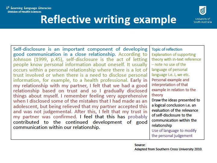 What is a reflection essay