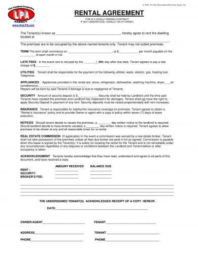 rental agreement example1