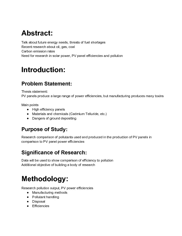 research action proposal outline example