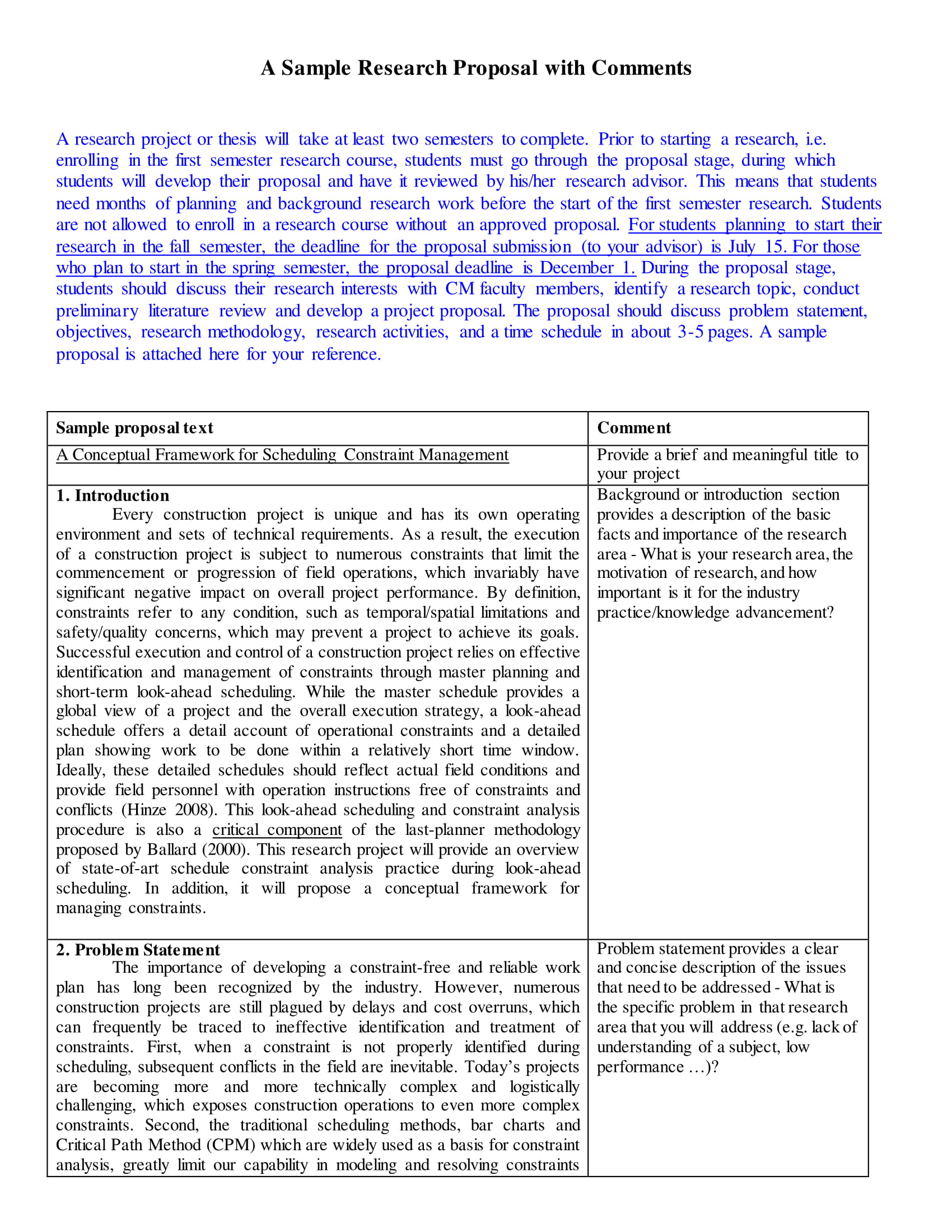 research proposal with comments example 1