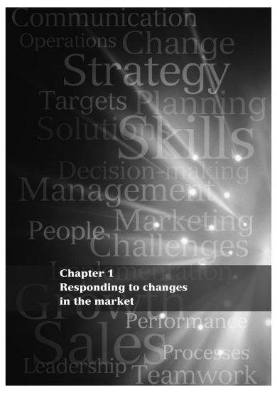responding to changes in the market with sales strategy plan example