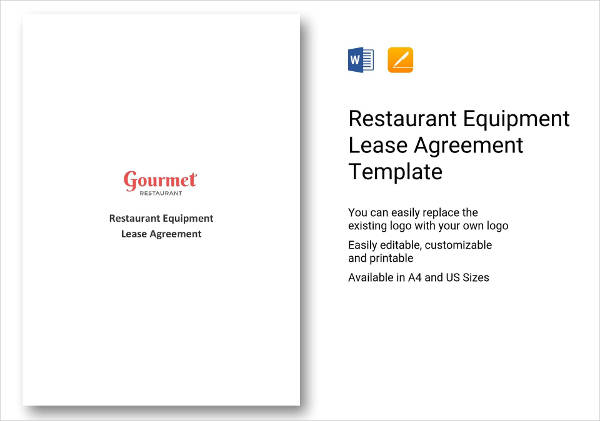 restaurant equipment lease agreement example