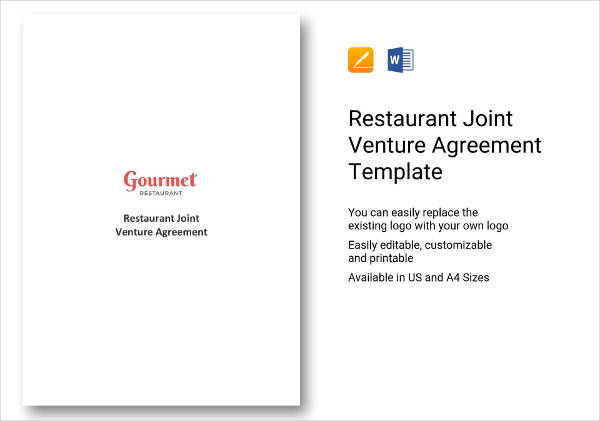 restaurant joint venture agreement example