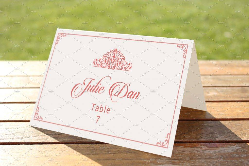 royal wedding table card template example